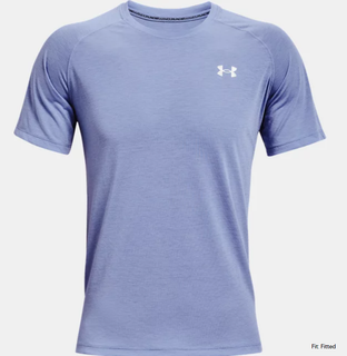 M UA Streaker Run SS Tee Blue