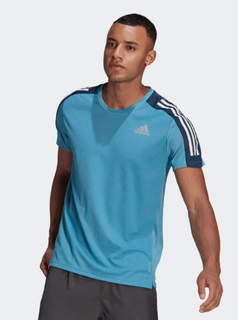 M Adidas Own The Run Tee Blue/Navy