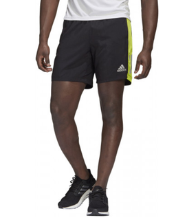 "M Adidas Own The Run Short 5"" Black/Green"