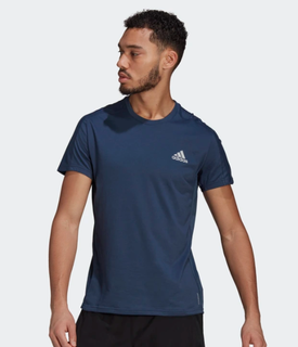 M Adidas Own The Run Tee Blue Grey