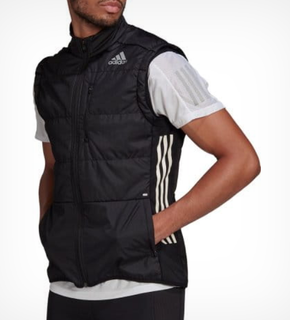 M Adidas Own The Run 3 Stripe Vest Black