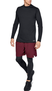 M Under Armour Cold Gear Mock LS Tee Black