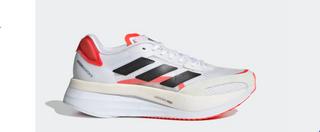 W Adidas Adizero Boston 10 White/Black/Red