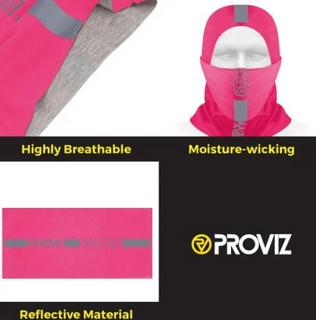A Proviz Reflective Neck Gaiter Pink
