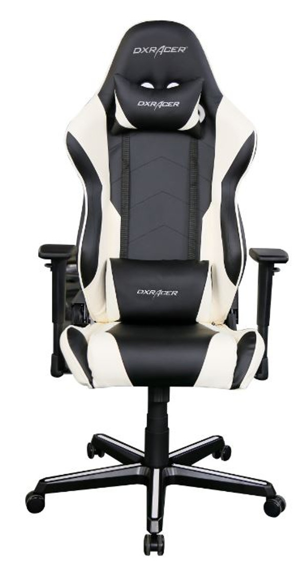 Superb Dxracer Rz00 Racing Series Gaming Chair Neck Lumbar Support Black White Pdpeps Interior Chair Design Pdpepsorg