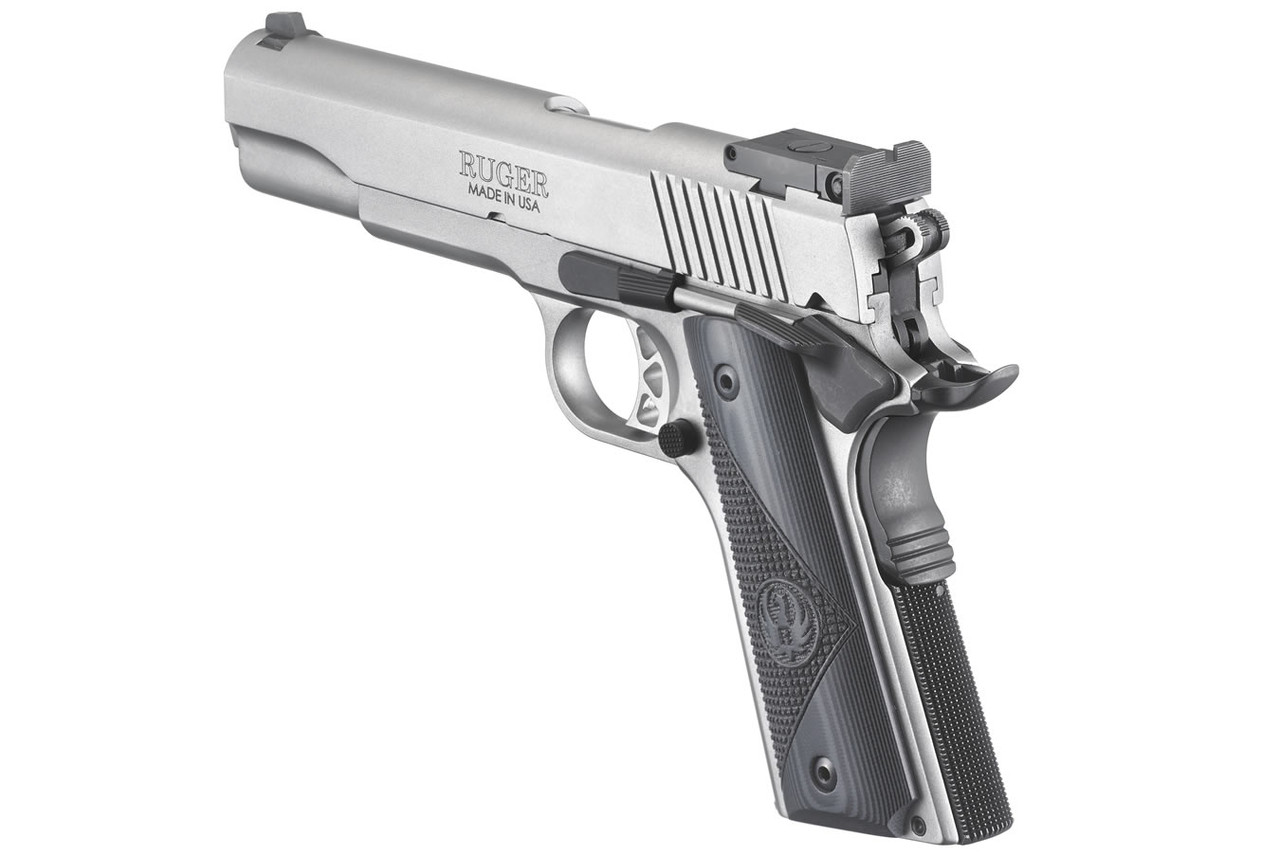 Ruger SR1911 45ACP Stainless Target with Bomar-Style Adjustable Sights