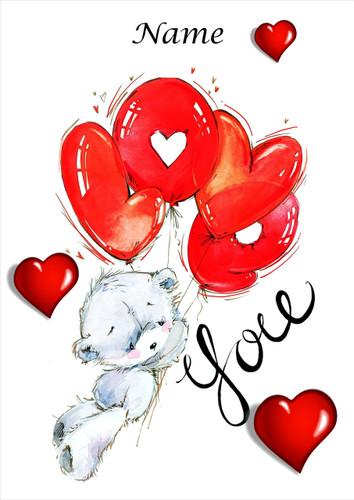 Bear Love Balloons - Personalised