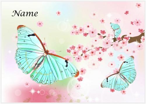 Aqua Butterflies - Personalised