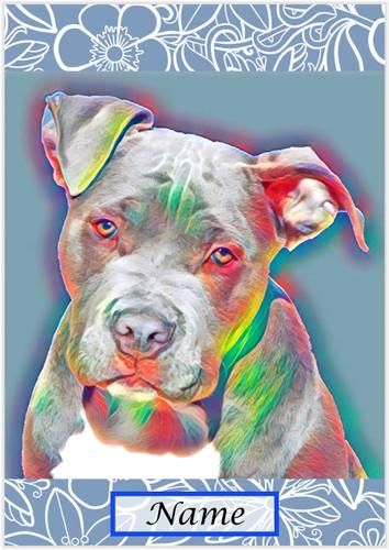 Staffy Pitbull Pop Art - Personalised