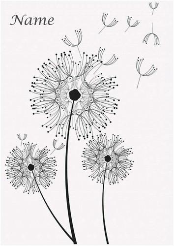 Dandelion Clocks Simple - Personalised