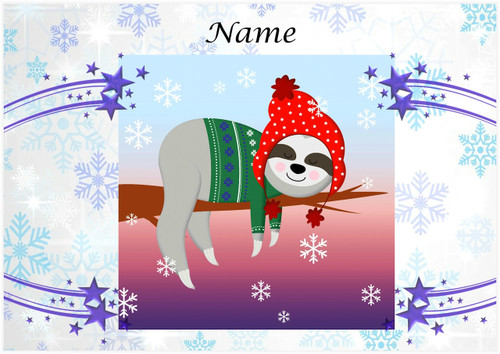 Sleepy Christmas Sloth - Personalised