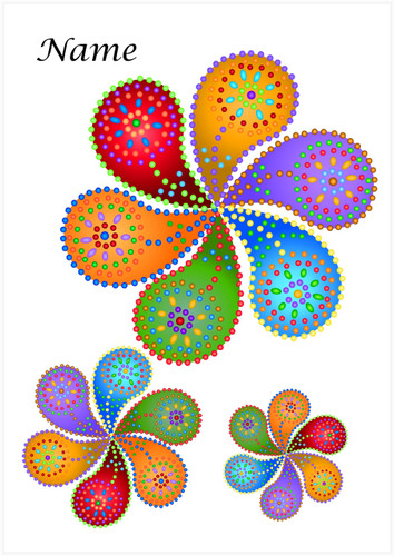 Mandala Flowers - Personalised