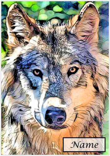 Timber Wolf - Personalised