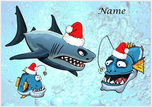 Santa Shark & Angler Fish - Personalised