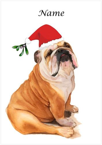 Bulldog Christmas - Personalised