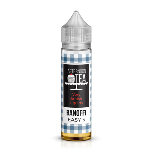 Banoffee Shortfill E-Liquid from the Afternoon Tea Range by EasyMix  Liquids