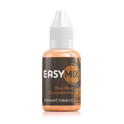 Straight Tobacco 30ml One Shot Flavour Concentrate by EasyMix bottle view