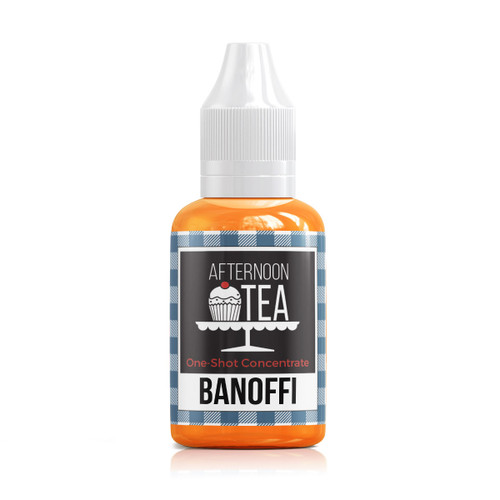 Banoffi 30ml one shot flavour concentrate by Afternoon Tea bottle view