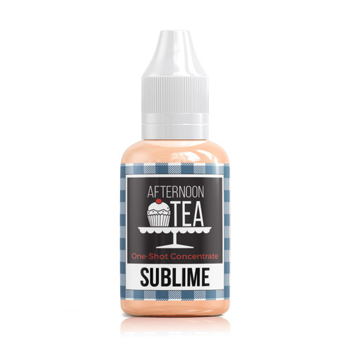 Sublime 30ml one shot flavour concentrate by Afternoon Tea bottle view