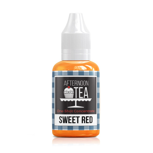 Sweet Red 30ml one shot flavour concentrate by Afternoon Tea bottle view