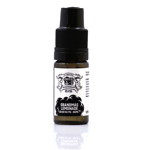 Chef's Vapour Grandma's Lemonade 10ml E-Liquid Bottle Shot