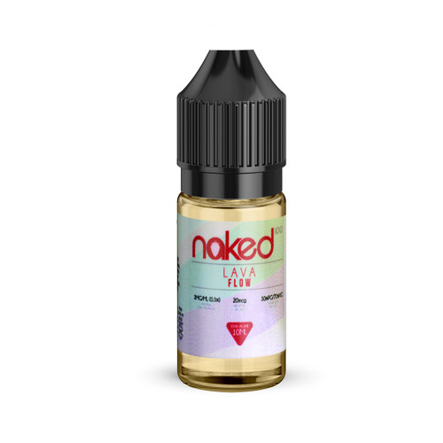 Lava Flow 10ml e-liquid bottle by Naked 100