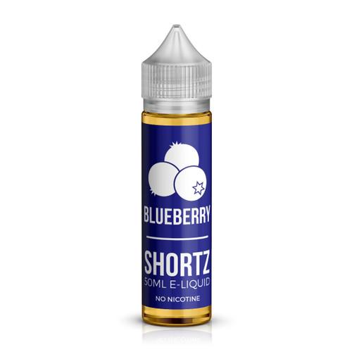 Blueberry 50ml shortfill e-liquid bottle by Shortz