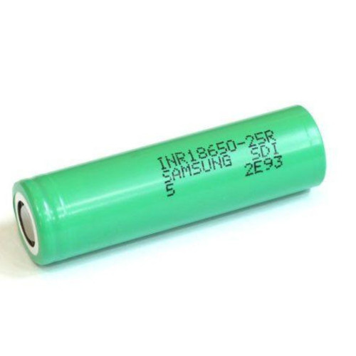 A single Samsumg 25r battery