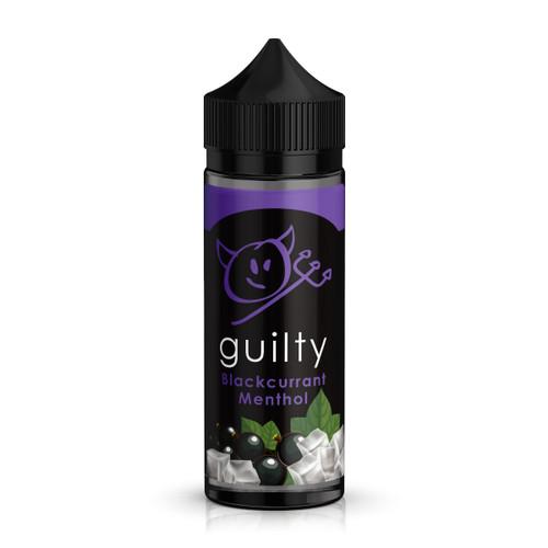 Guilty Blackcurrant Menthol E-Liquid 100ml Shortfill Bottle