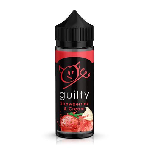 Guilty Strawberries & Cream E-Liquid 100ml Shortfill Bottle