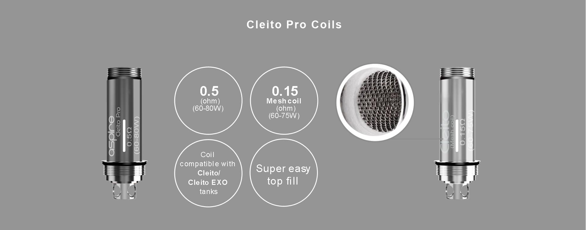 Aspire Cleito Pro Mesh Coil Comparison