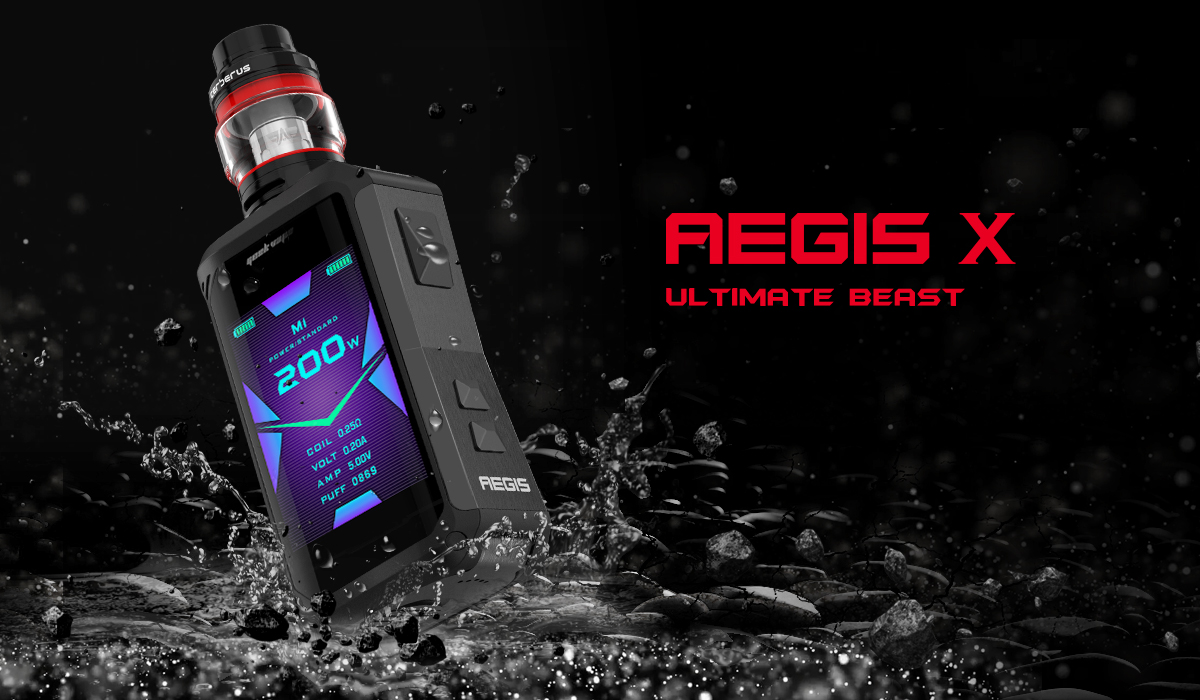 Geekvape Aegis X waterproof vape kit with Cerberus tank