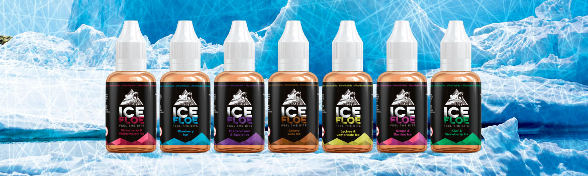 Ice Floe one shot flavour concentrates on background