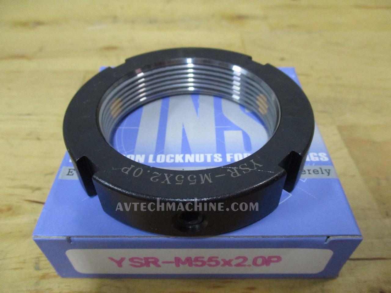Turning- Red Yinsh Precision Bearing Locknut YSR-M55x2.0P