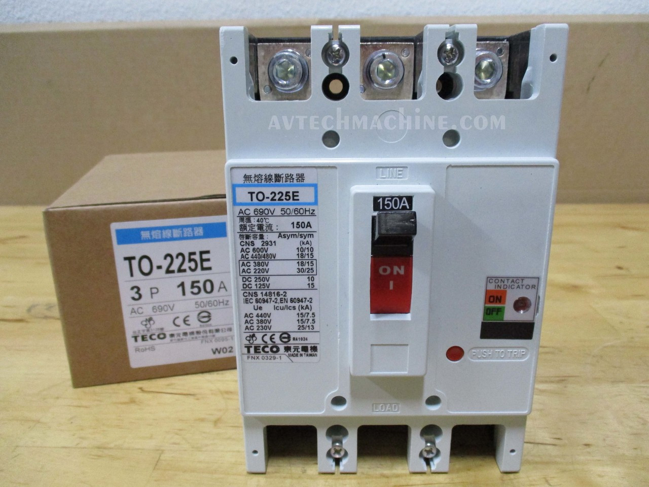 Teco Thermal-Magnetic Breaker TO-50EC-3P50A