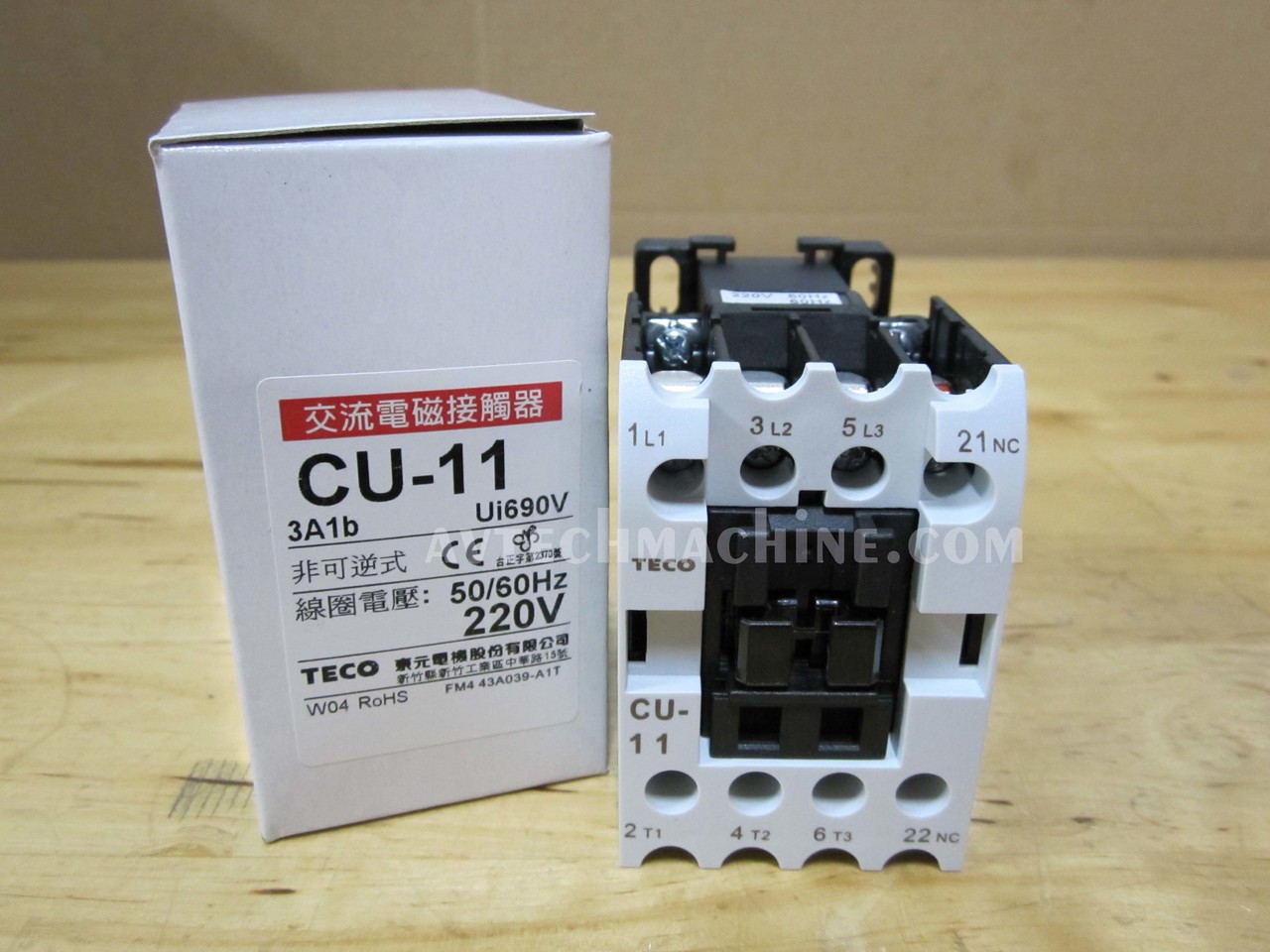 Electrical Equipment & Supplies Teco Magnetic Contactor CU-11-3A1a ...