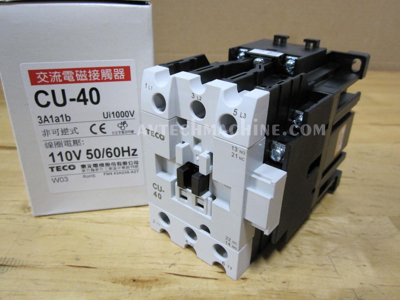 New 1PCS TECO CU-32R magnetic contactor