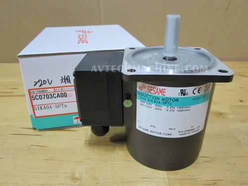 Sesame Induction Motor 5IK40GN-A 1 Phase 110V