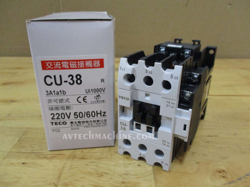 TECO CU-90-220V Magnetic Contactor 3A2A2B 50//60Hz