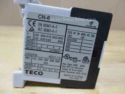 Teco Magnetic Contactor CU-16-3A1a-220V CU16H5
