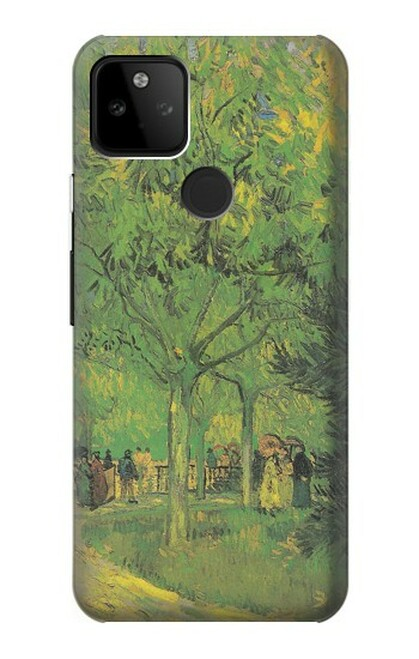 S3748 フィンセント・ファン・ゴッホ パブリックガーデンの車線 Van Gogh A Lane in a Public Garden Google Pixel 5A 5G バックケース、フリップケース・カバー