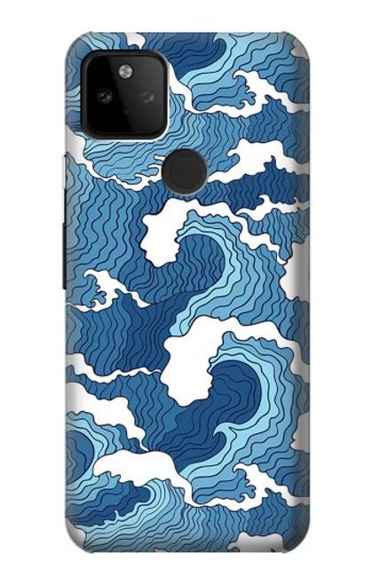 S3751 波のパターン Wave Pattern Google Pixel 5A 5G バックケース、フリップケース・カバー
