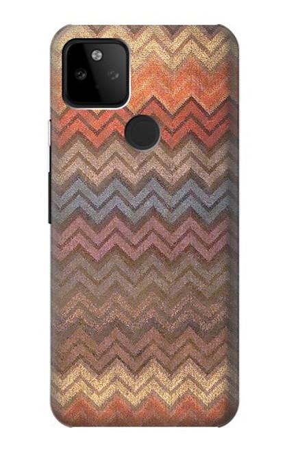 S3752 ジグザグ生地パターングラフィックプリント Zigzag Fabric Pattern Graphic Printed Google Pixel 5A 5G バックケース、フリップケース・カバー