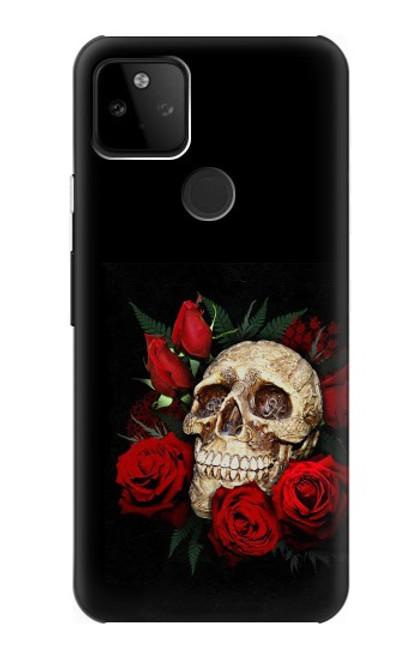 S3753 ダークゴシックゴススカルローズ Dark Gothic Goth Skull Roses Google Pixel 5A 5G バックケース、フリップケース・カバー