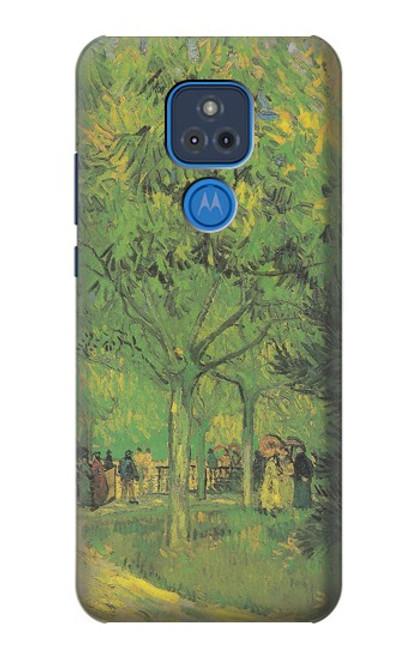 S3748 フィンセント・ファン・ゴッホ パブリックガーデンの車線 Van Gogh A Lane in a Public Garden Motorola Moto G Play (2021) バックケース、フリップケース・カバー