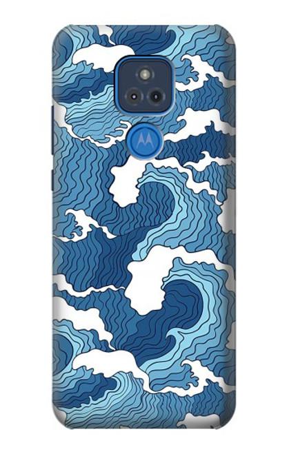 S3751 波のパターン Wave Pattern Motorola Moto G Play (2021) バックケース、フリップケース・カバー