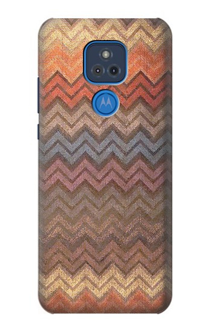 S3752 ジグザグ生地パターングラフィックプリント Zigzag Fabric Pattern Graphic Printed Motorola Moto G Play (2021) バックケース、フリップケース・カバー