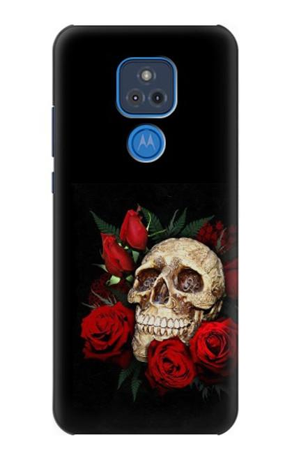 S3753 ダークゴシックゴススカルローズ Dark Gothic Goth Skull Roses Motorola Moto G Play (2021) バックケース、フリップケース・カバー