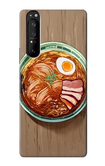 S3756 ラーメン Ramen Noodles Sony Xperia 1 III バックケース、フリップケース・カバー
