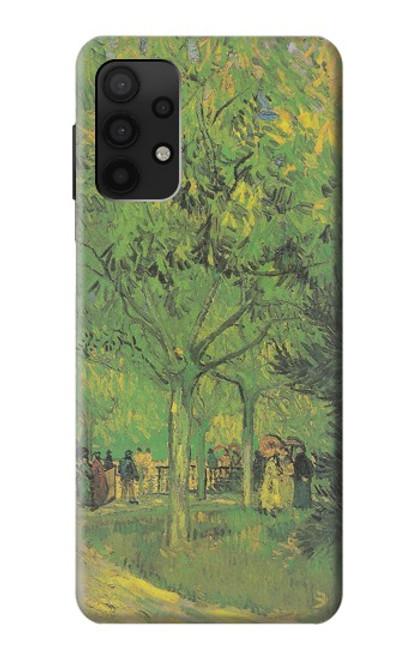 S3748 フィンセント・ファン・ゴッホ パブリックガーデンの車線 Van Gogh A Lane in a Public Garden Samsung Galaxy A32 4G バックケース、フリップケース・カバー